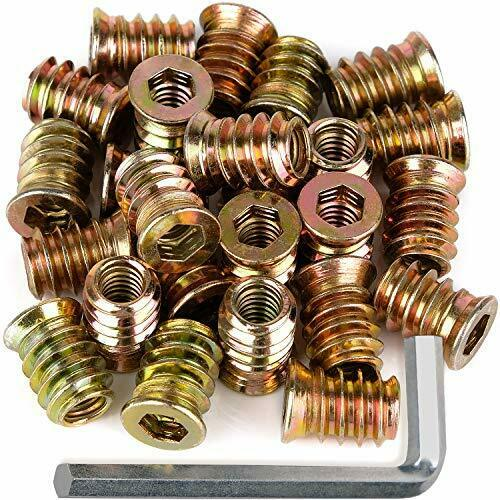 Furniture Screw in Nut Threaded Wood Insert Bolt Fastener Connector 1 4quot; 20x15mm $14.19
