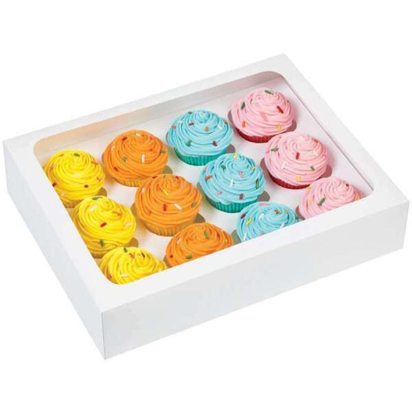 Mini Cupcake Boxes 12 Cavity White 3 Pkg 070896116963