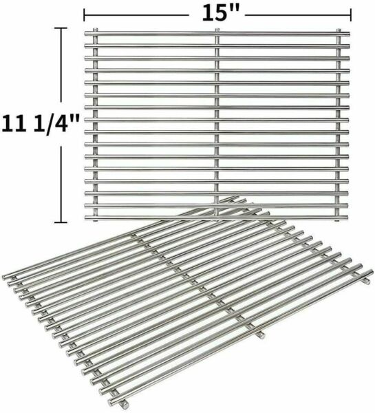 Grill Stainless Steel Cooking Grates Grid 15quot; 2 Pack for Weber Spirit E200 E210