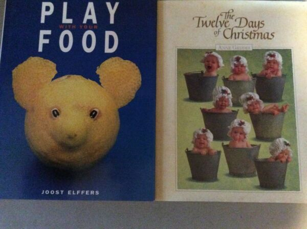 Coffee Table Books Set of 2 Babies and Food