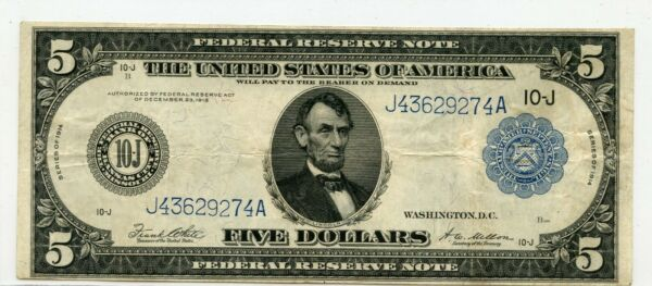 FR. 883b $5 1914 Federal Reserve Note Kansas City 274a