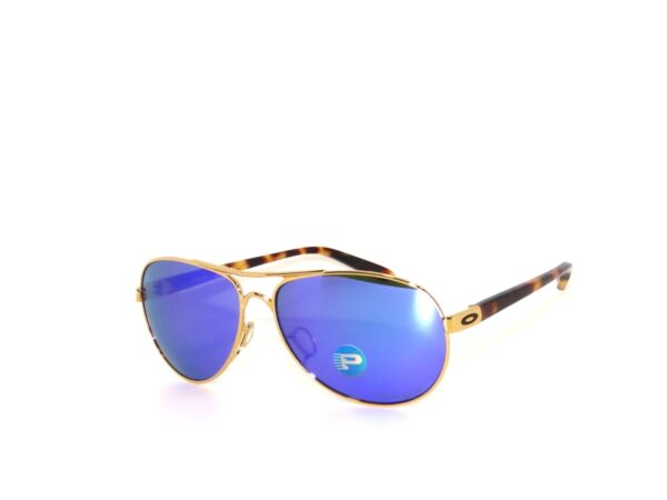 Oakley Feedback 4079 18 Gold Violet Iridium Polarized Sale Sunglasses $99.99