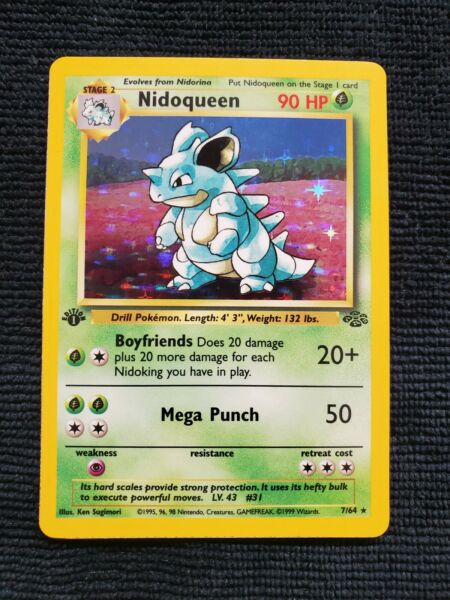 NIDOQUEEN 1st Edition HOLO Jungle Rare Pokemon 1999 PSA READY NM NEAR MINT $59.99