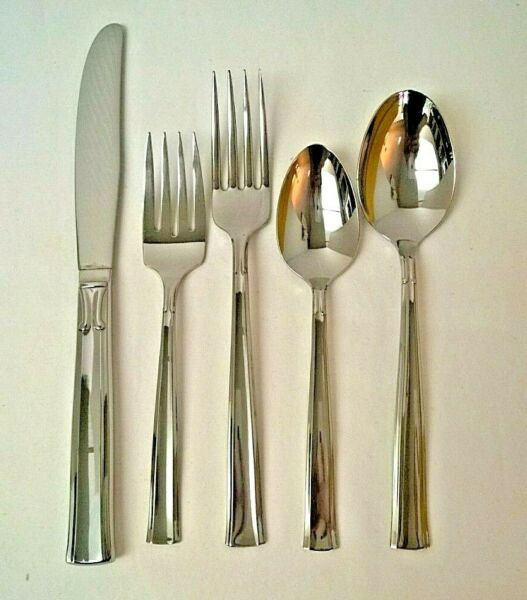 Oneida Stainless 5 Piece Place Setting Flatware Forever Pattern 6 Sets