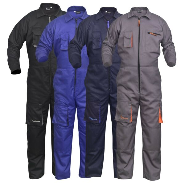 Work Wear Men#x27;s Overalls Boiler Suit Coveralls Mechanics Boilersuit Protective $65.65