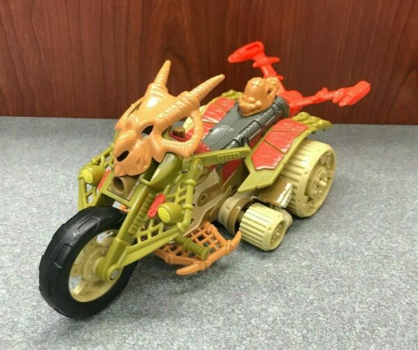 TMNT 2005 Donatello Paleo Patrol Dino Bike To Retracting Capture Claw Mirage $17.99
