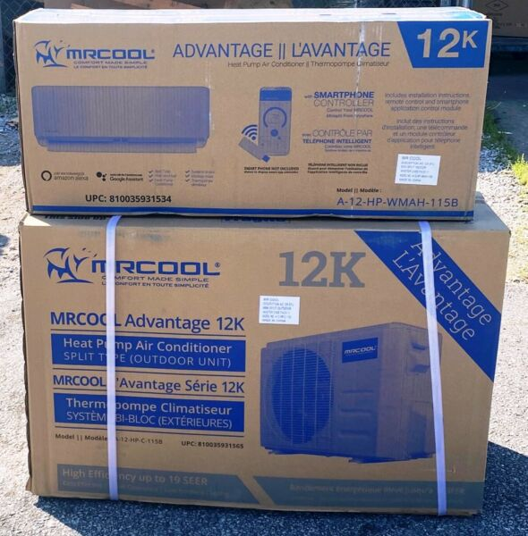 MRCOOL Advantage 3G 12000 BTU 19 SEER Ductless Mini Split AC Heat Pump 115 volt $995.00