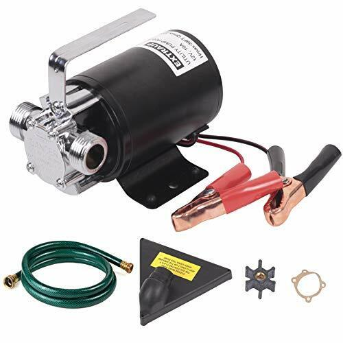 EXTRAUP DC 12Volt 330 GPH Portable Low Suction Electric Water Transfer Removal $66.24