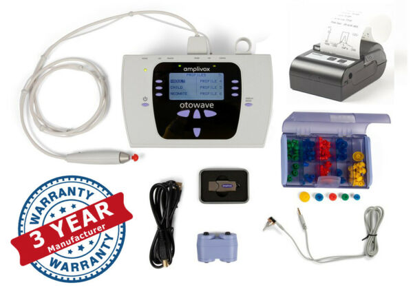 Amplivox Otowave tympanometer 302 or 302 with Thermal Printer 3 Year Warranty