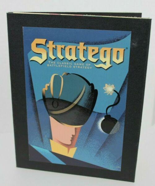 STRATEGO Vintage Game Collection Wooden Library Book Shelf Wood Box No Manual