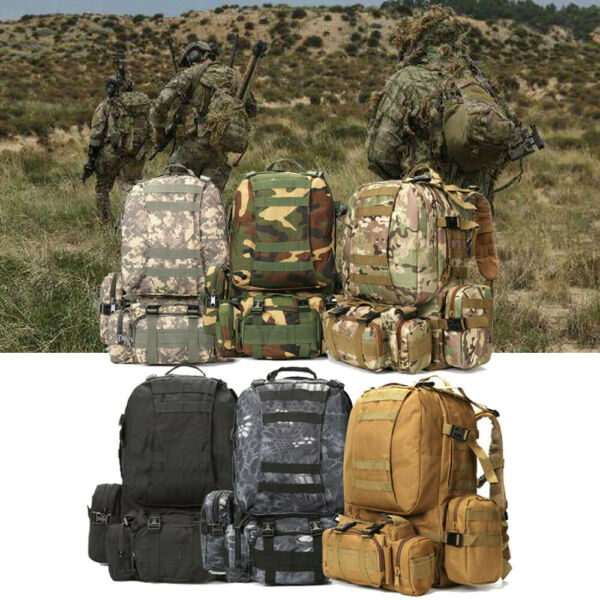 56L Tactical Military Camping Backpack Camping Hiking Travel Bag Outdoor USA