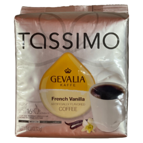 Tassimo Gevalia French Vanilla Coffee 16 Discs