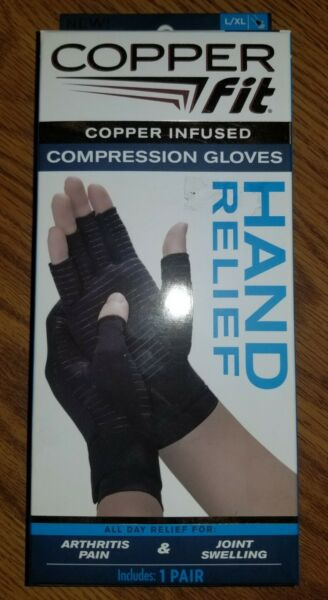 NIP Copper Fit Copper Infused Compression Gloves 1 Pair of L XL Gloves Unisex