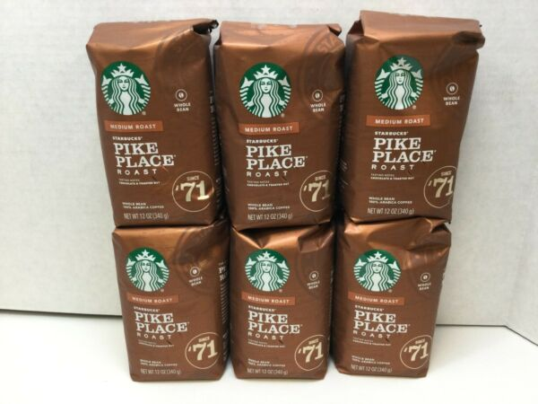 Starbucks Pike Place Medium Roast Whole Bean Coffee CASE OF 6 03 2021