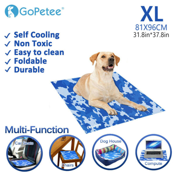 Gel Cooling Mat for Dogs amp; Cats Self Cooling Dog Bed Summer Sleeping Gel Pad XL $29.99