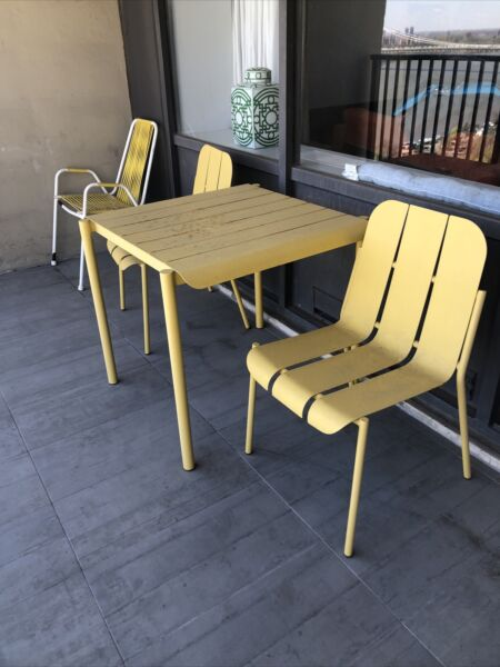 Blu Dot x Target powder coated steel outdoor table amp; chairs $175.00