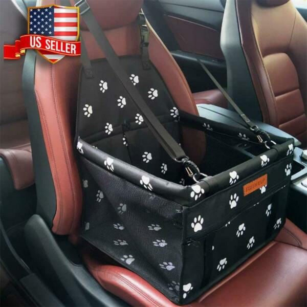 PET CAR BOOSTER SEAT TRAVEL DOG CAT FOLDING SMALL CARRIER CAGE BREATHABLE NEW $26.28