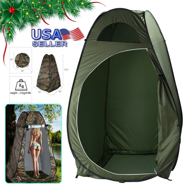 Outdoor Pop Up Privacy Tent Instant Portable Shower Tent Changing Room Toilet $28.89