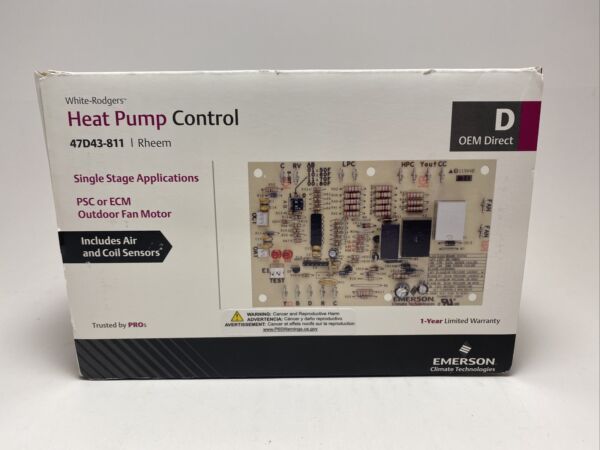 White Rodgers 47D43 811 Rheem Heat Pump Defrost Control Emerson Sealed $31.99