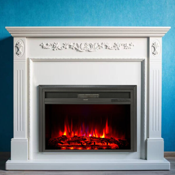 32quot; Recessed Electric Heater Fireplace Insert w Remote Control Thermostat 1500W $141.99