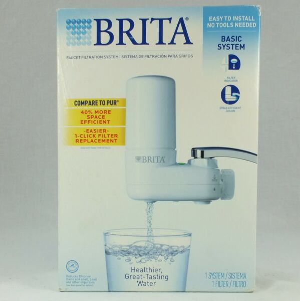 Brita Tap Water Filter System Faucet Purifier Reduces 99% Lead amp; Contaminants