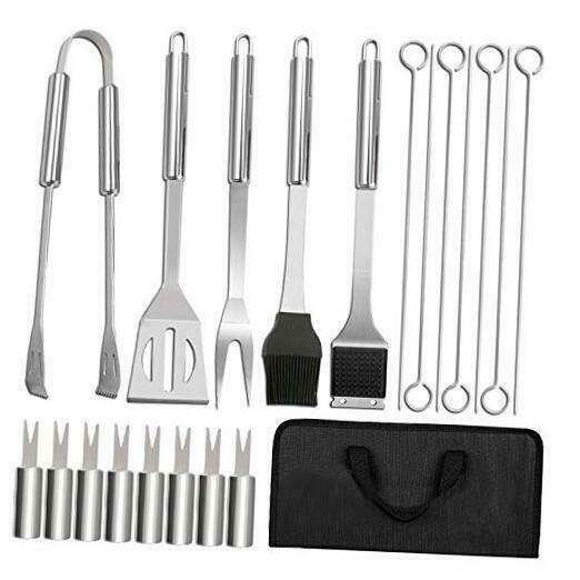 Grilling Accessories BBQ Grill Set 20PCS Stainless Steel BBQ Tools Utensil