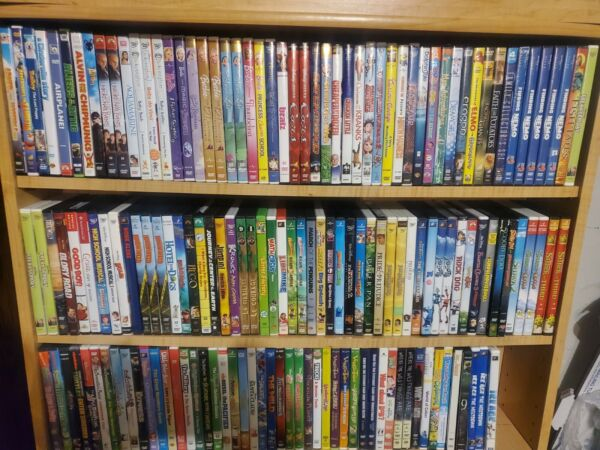 HUGE KIDS DVDs Lot CASES INCLUDED Flat $3.49 Shipping Any Qty $1.98