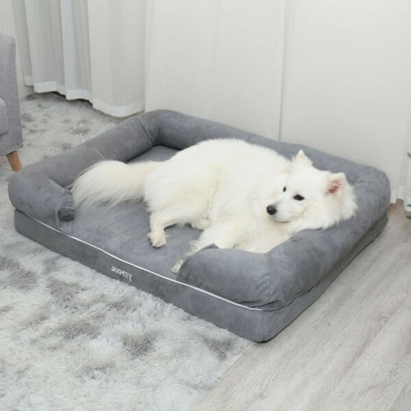 XL Pet Sleeping Sofa Pet Dog Bed Big W Sleep Pillow Heavy Duty Suede fabric $43.99