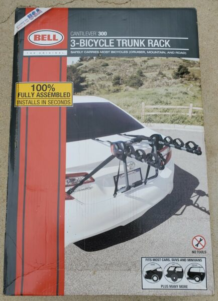 Bell Cantilever 300 3 Bicycle Trunk Rack NEW in box $49.99