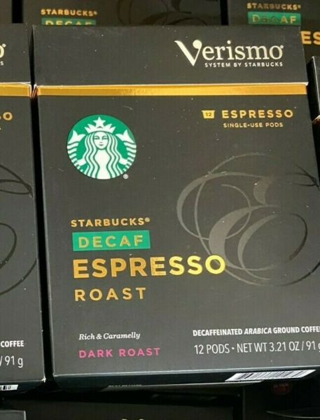 Starbucks Decaf Espresso Roast Verismo12 Pod*Early2021 Best By Date*DISCONTINUED
