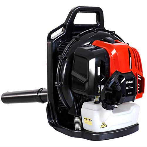 PX Trunk Gas Leaf Blower 52cc 2 Cycle Engine Backpack Blower Powerful Gas Blower