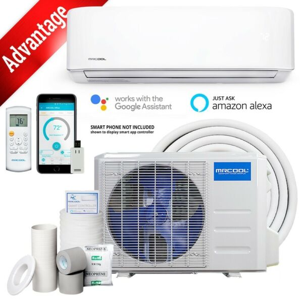 9k BTU 19 SEER 110V MrCool Advantage Ductless Heat Pump Split BRAND NEW $729.00