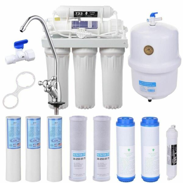 5 Stage Reverse Osmosis Drinking Water System RO Home Purifier 13 TOTAL FILTERS $39.55
