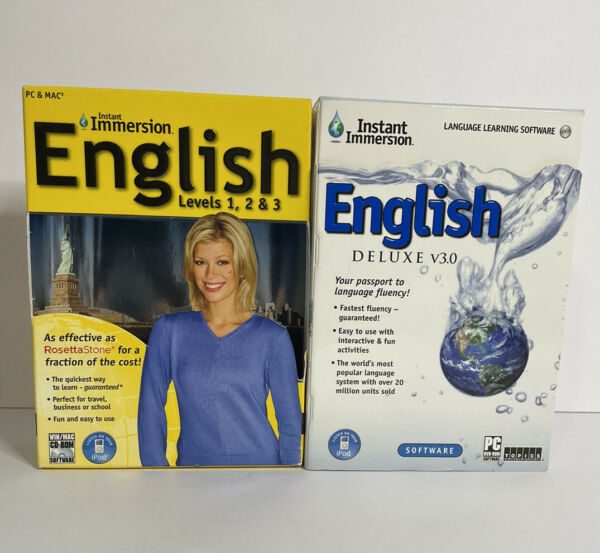 Learn To Speak English With Instant Immersion Bundle Of 2 Deluxe amp; Levels 1 3 $15.00
