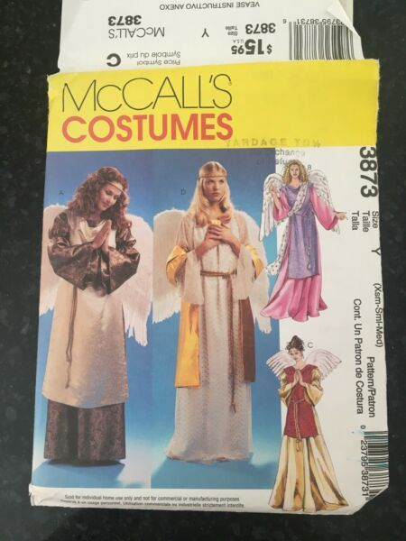McCall#x27;s Misses#x27; Angel Costumes Pattern #3873 Size Ism Small Med UNCUT $1.85