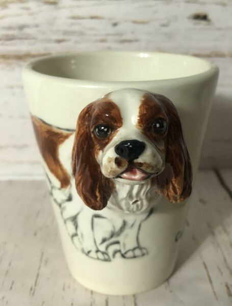 King Charles Spaniel Gift Cup Dog Unique Coffee Mug Handmade by Blue Witch $25.00