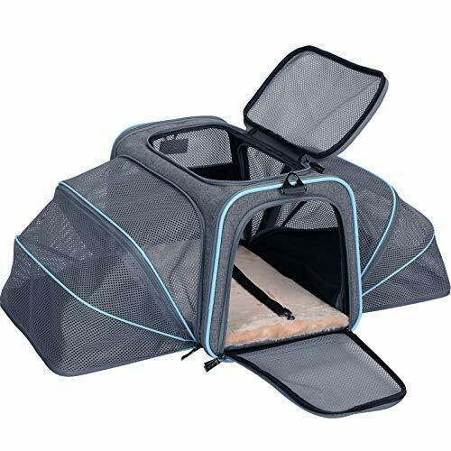 Petsfit Expandable Large Cat Carrier Small Dog Carriers Airline Approved Soft... $90.29