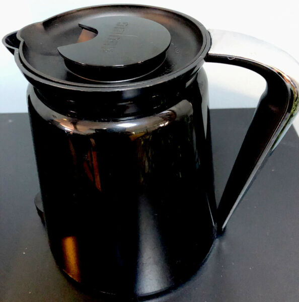 Keurig Hot K Carafe 2.0 Pitcher Coffee Pot W Lid 32 OZ 4 Cups Black Replacement