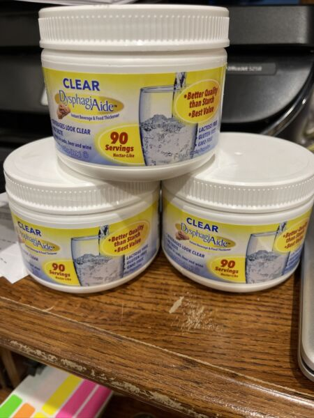 Lot of 3 270Servings CLEAR DysphagiAide® Instant Beverage Food Thickener 7 22 $10.00