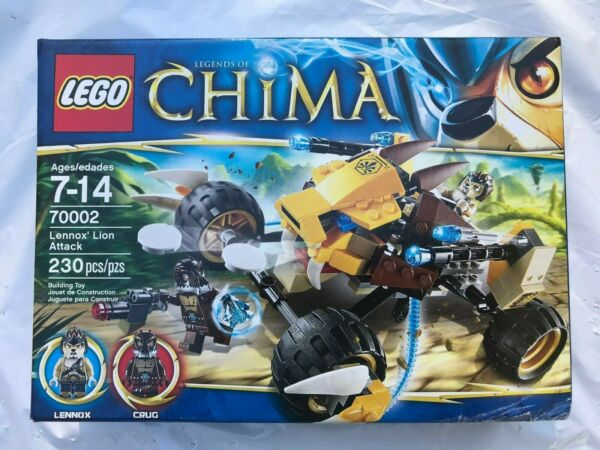 Lego 70002 Legends of Chima Lennox Lion Attack New Box Issues $24.95