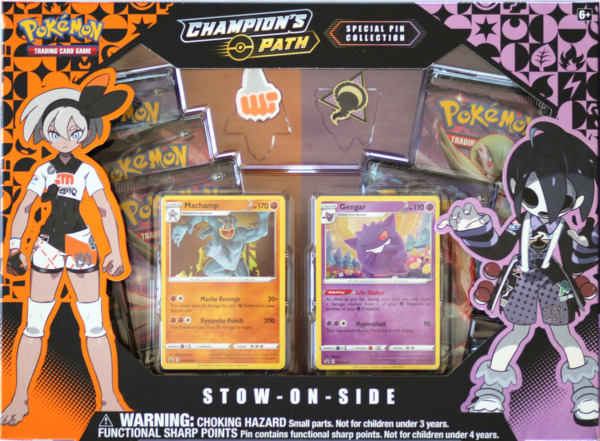 Pokemon Champions Path Stow On Side Special Pin Collection Box 5 Booster Packs