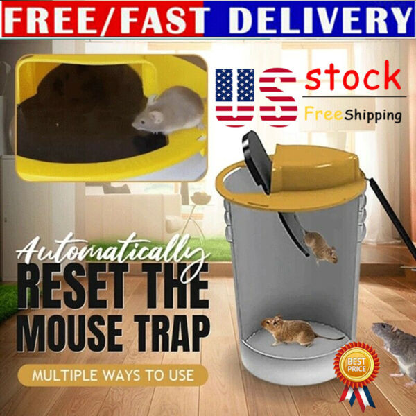 Lid Mouse Trap Automatic Mouses Trap 5 Gal Bucket Compatible Flip N Slide Bucket $20.86