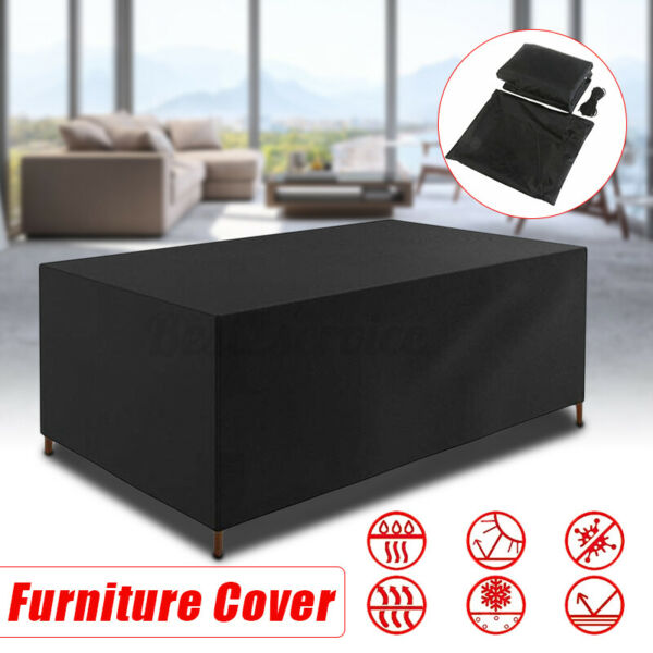 Outdoor Waterproof Garden Patio Furniture Covers Rectangle Table Rain Cover US