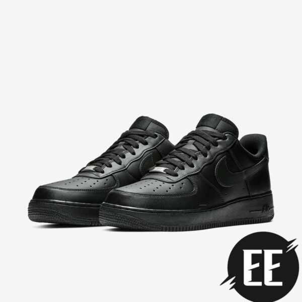 Nike Men#x27;s Air Force 1 Low #x27;07 Triple Black Casual Shoes BRAND NEW Size 8 14