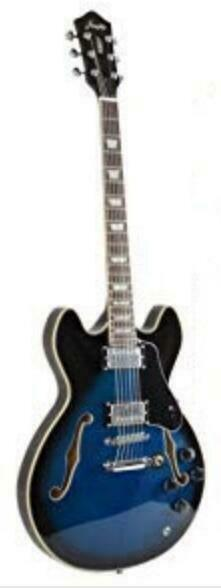 New Firefly FF338 Blue Color Semi Hollow body Guitar Electric Gutiar Blue) $139.99