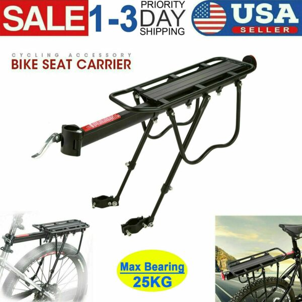 Mountain Bike Bicycle Rear Rack Pannier Luggage Seat Post Mount Carrier Holder $20.99