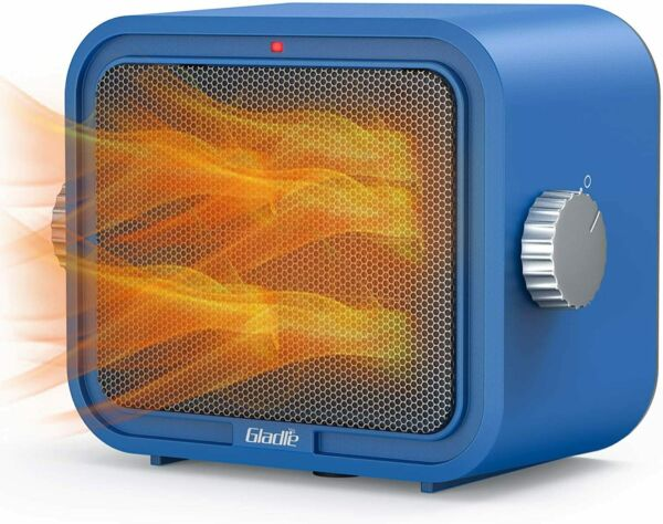 Gladle Space Heater 1500W Portable Electric Heater for Office Home GL HP01 Blue $19.95