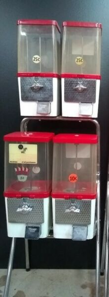 Komet 4 Unit Candy Nut Machines with stand $169.00