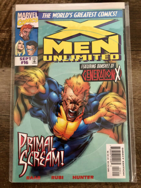 X MEN UNLIMITED #16 NM Condition. Banshee Cover $3.50