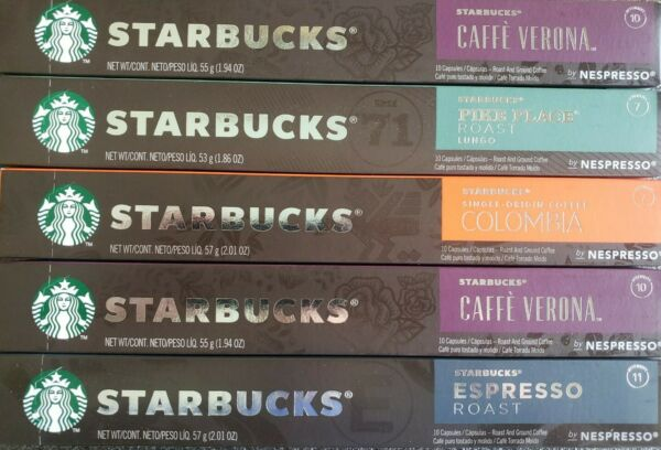 Starbucks by Nespresso Variety Pack 50 Count Single Serve Capsule New Sealed